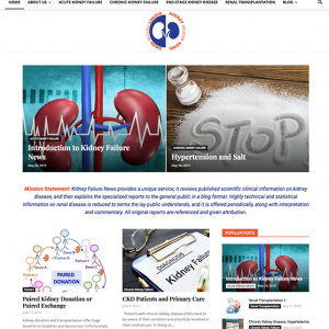 Kidney Failure News website